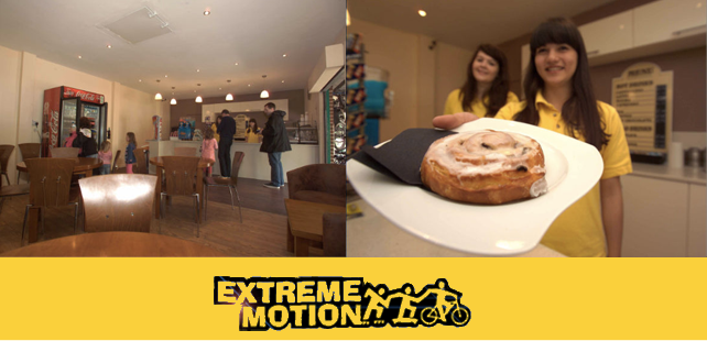 Pop in to the Extreme Motion Cafe in Windsor for indoor and outdoor refreshments all year round